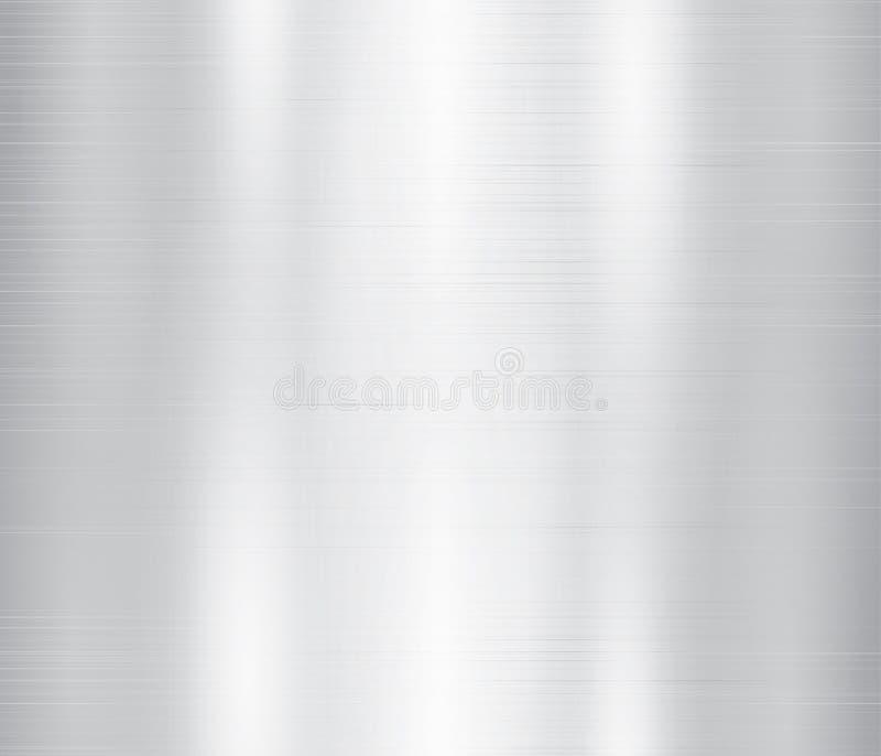 Vectorillustratie van grijs metaal, de achtergrond van de roestvrij staaltextuur vector illustratie