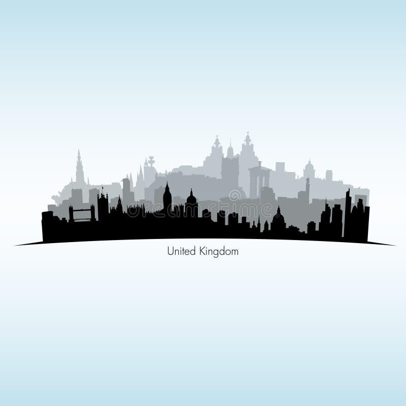 Vectorillustratie van Groot-Brittannië royalty-vrije illustratie