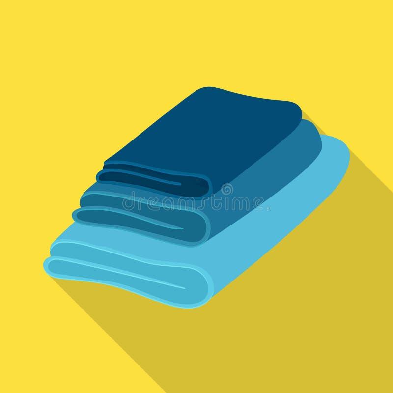 Vectorillustratie van handdoek en opgestapeld embleem r royalty-vrije illustratie