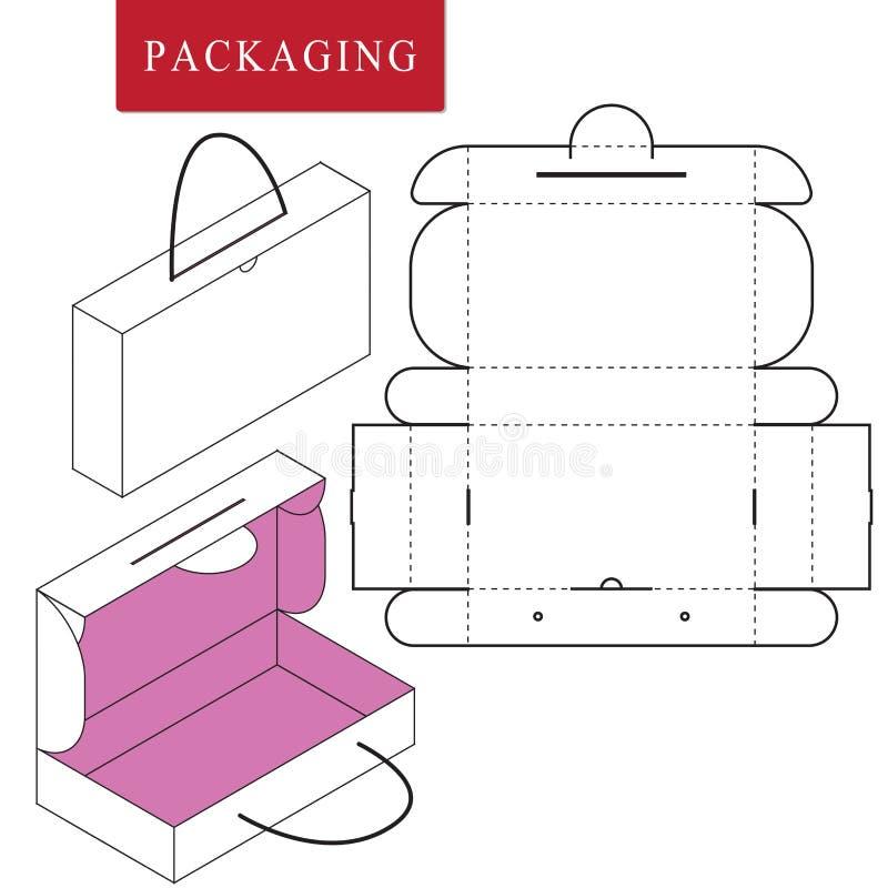 Vectorillustratie van handvatdoos vector illustratie