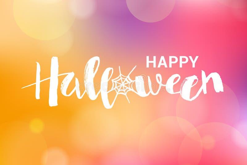 Vectorillustratie van Happy Halloween-frase met web vector illustratie