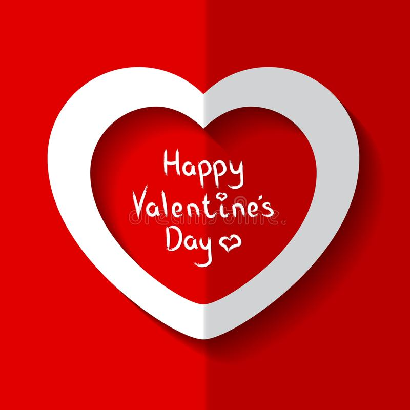 Vectorillustratie van Hart voor de Dag van Valentine ` s royalty-vrije stock fotografie