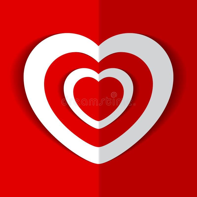Vectorillustratie van Hart voor de Dag van Valentine ` s stock afbeeldingen
