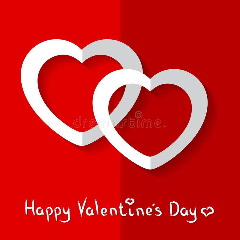 Vectorillustratie van Harten voor de Dag van Valentine ` s royalty-vrije stock afbeelding