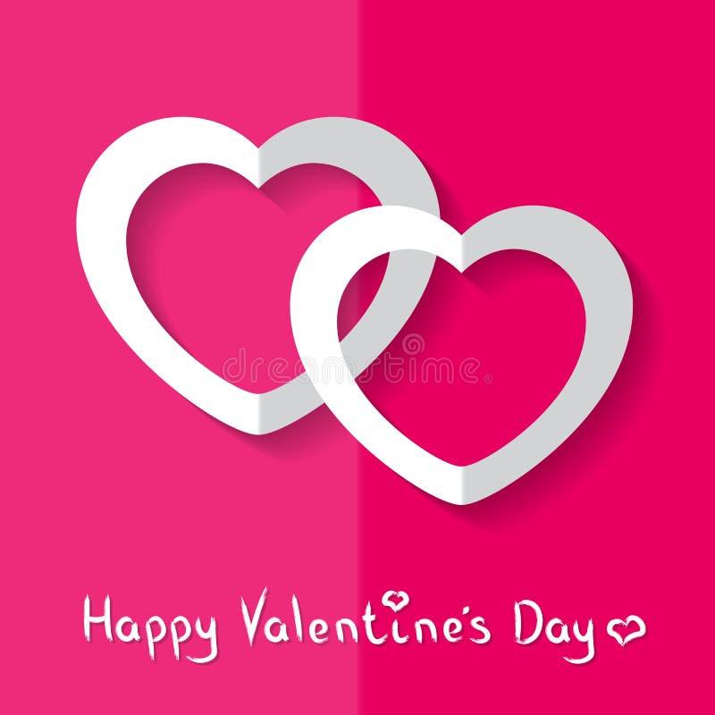 Vectorillustratie van Harten voor de Dag van Valentine ` s stock afbeelding