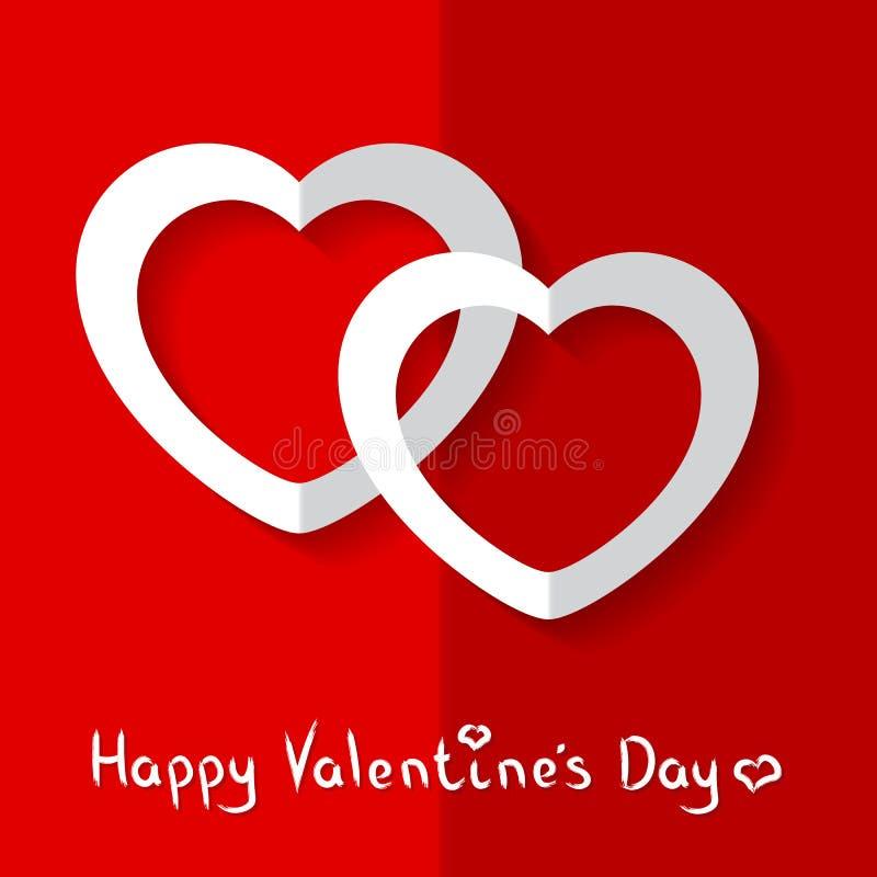 Vectorillustratie van Harten voor de Dag van Valentine ` s stock foto