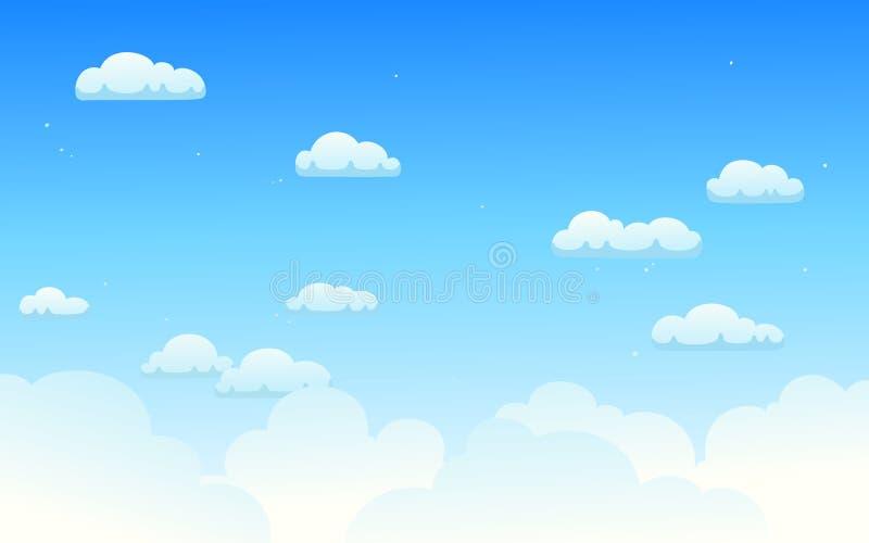 Vectorillustratie van heldere bewolkte hemel vector illustratie
