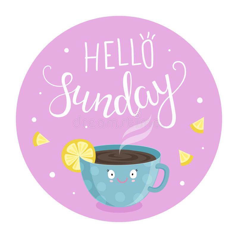 Download Vectorillustratie Van Hello-Zondag Vector Illustratie - Illustratie bestaande uit zondag, illustratie: 114226259