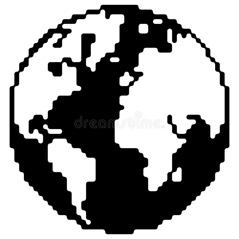 Vectorillustratie van het aarde de Vlakke Pictogram op witte achtergrond stock illustratie