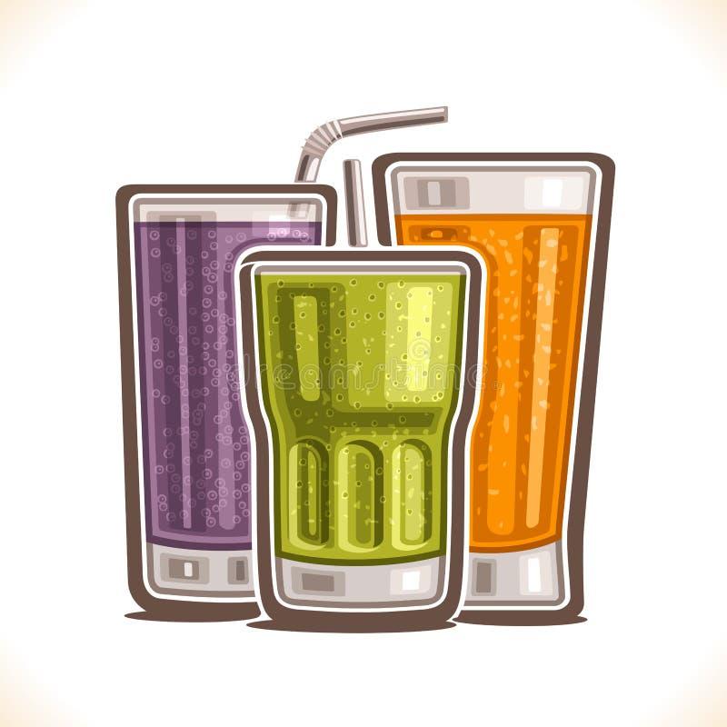 Vectorillustratie van het verfrissen van Dranken stock illustratie