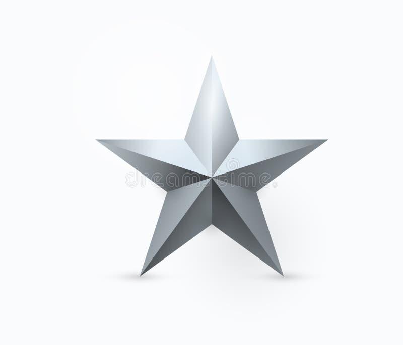 Vectorillustratie van het vijf-gerichte ontwerp van de metaalster royalty-vrije illustratie