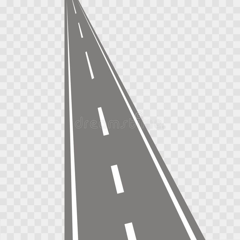 Vectorillustratie van het winden van gebogen weg stock illustratie