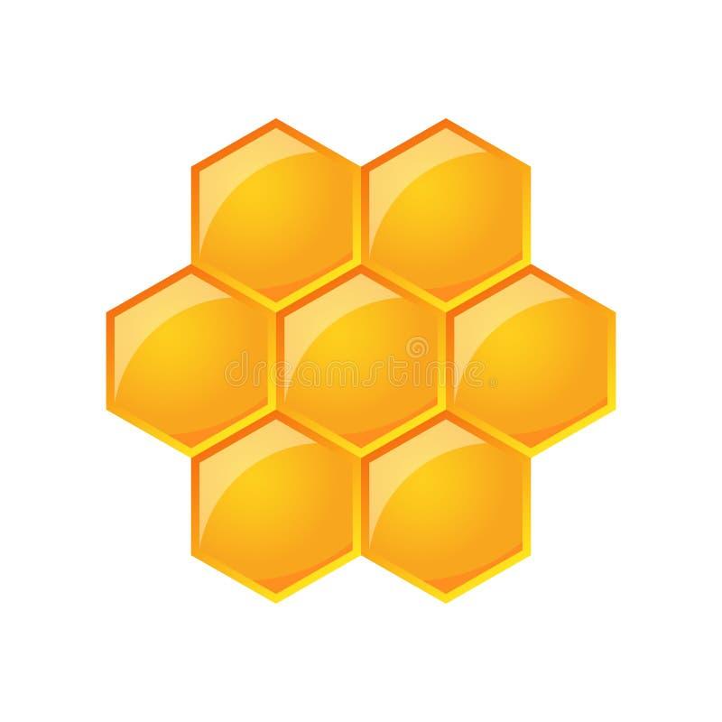 Vectorillustratie van honingraat vector illustratie