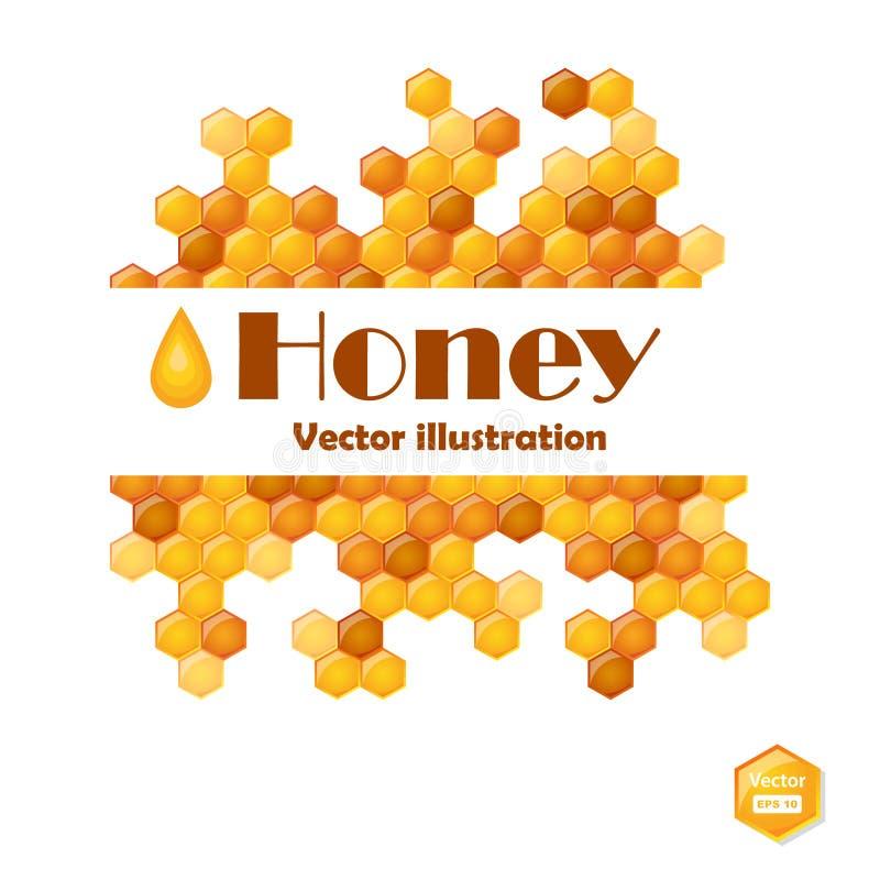 vectorillustratie van honingraten vector illustratie