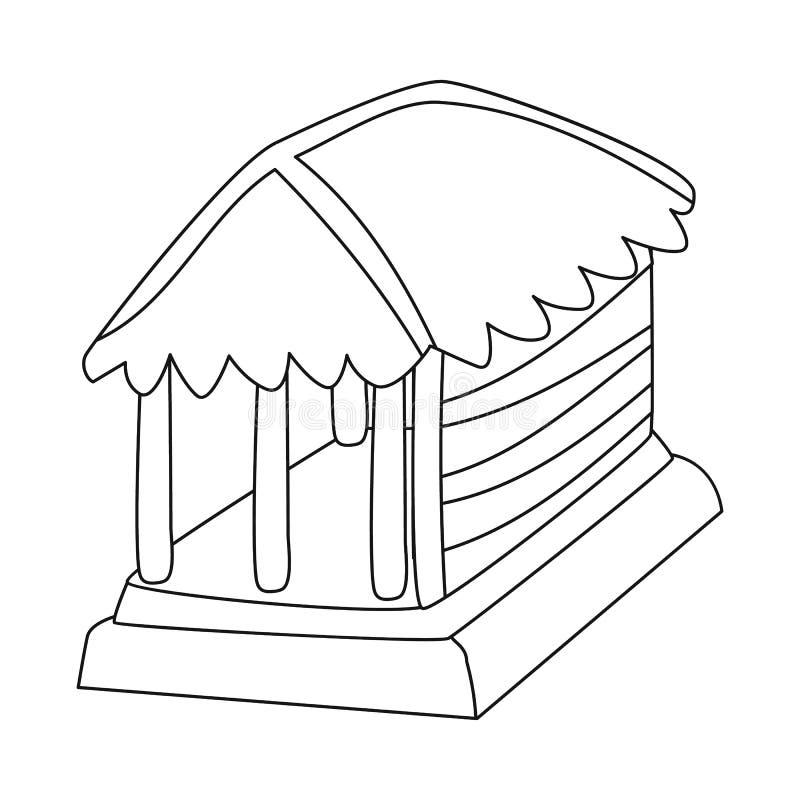 Vectorillustratie van hut en huissymbool Reeks van hut en gazebovoorraad vectorillustratie royalty-vrije illustratie