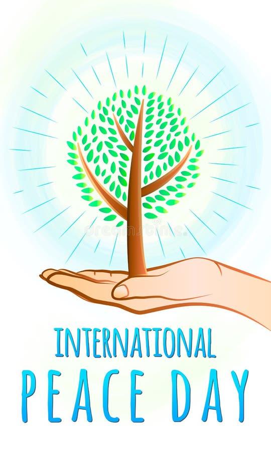 Vectorillustratie van internationale vrede dag 21 september stock illustratie