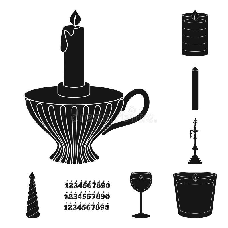 Vectorillustratie van kaarslicht en decoratiepictogram Inzameling van kaarslicht en was vectorpictogram voor voorraad stock illustratie