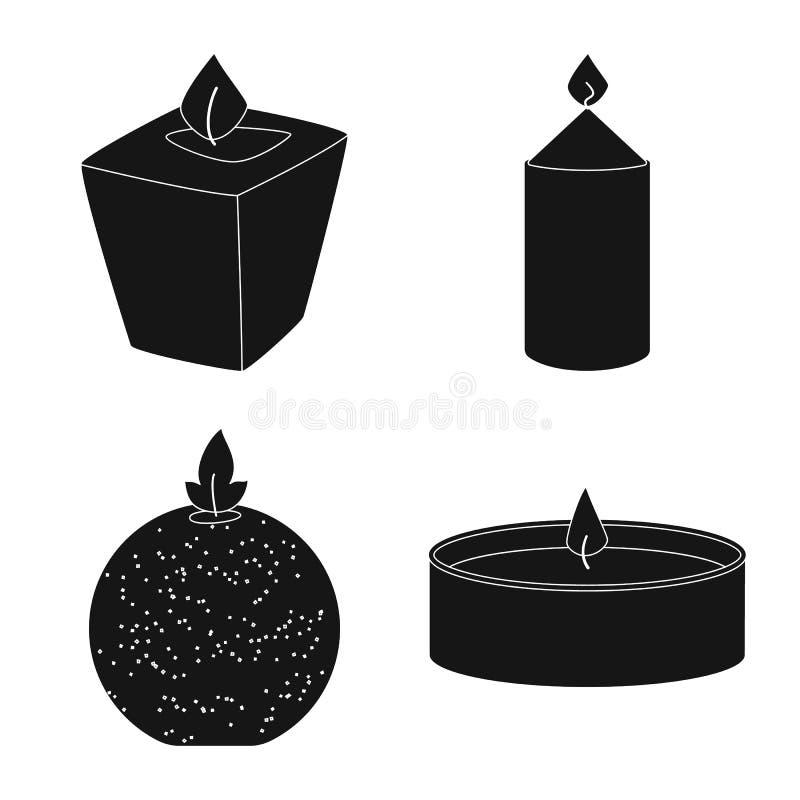Vectorillustratie van kaarslicht en decoratiepictogram Reeks van kaarslicht en was vectorpictogram voor voorraad vector illustratie
