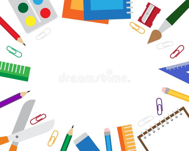 Vectorillustratie van kader met kantoorbehoeftenpunten royalty-vrije illustratie