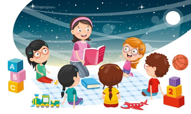 Vectorillustratie van Kinderenachtergrond royalty-vrije illustratie