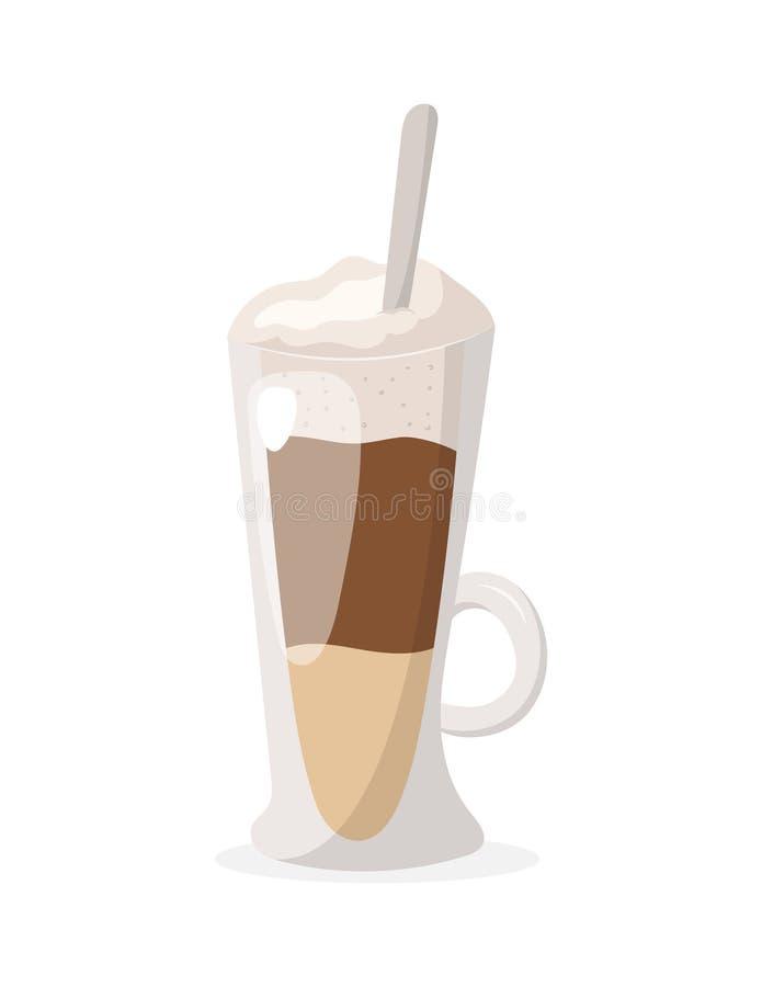 Vectorillustratie van koffie latte stock illustratie