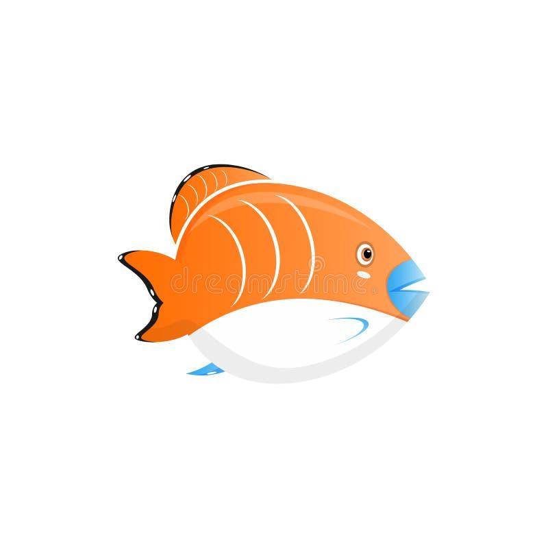 grappig vissenbeeldverhaal met schoonheids overzeese het