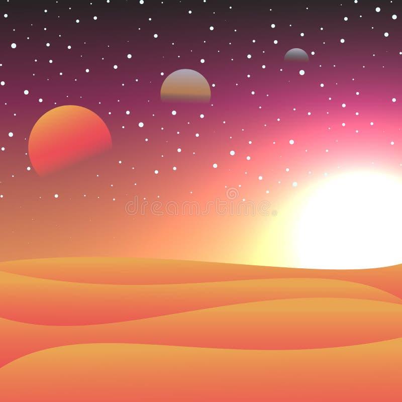 Vectorillustratie van kosmische ruimten royalty-vrije stock afbeelding