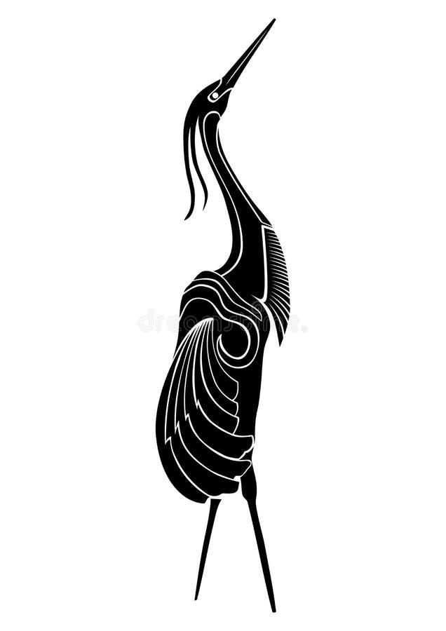 Vectorillustratie van kranenvogel vector illustratie