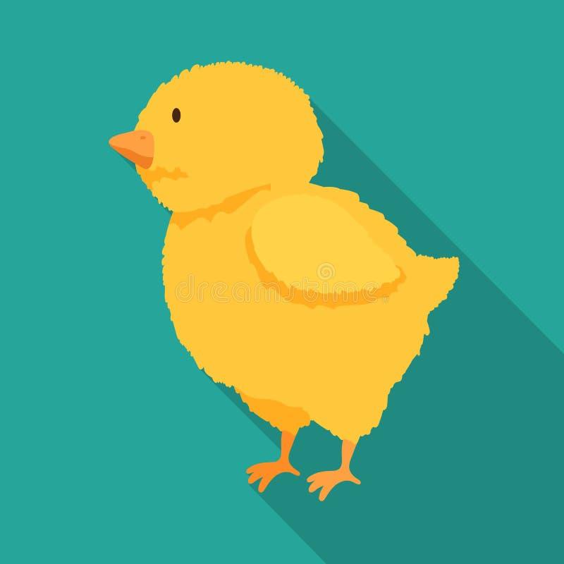 Vectorillustratie van kuiken en Pasen-symbool Inzameling van kuiken en leuke voorraad vectorillustratie vector illustratie