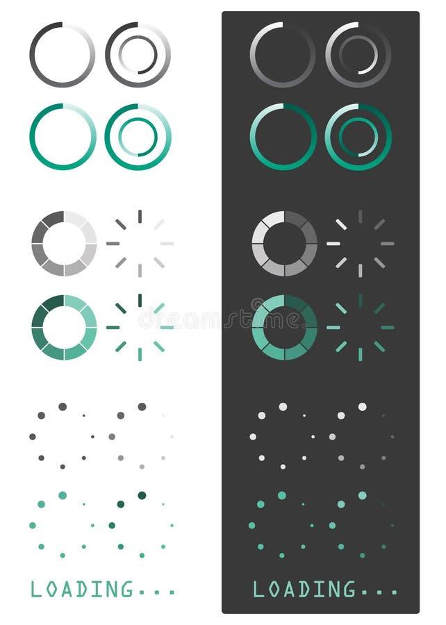 Vectorillustratie van ladingspictogrammen vector illustratie