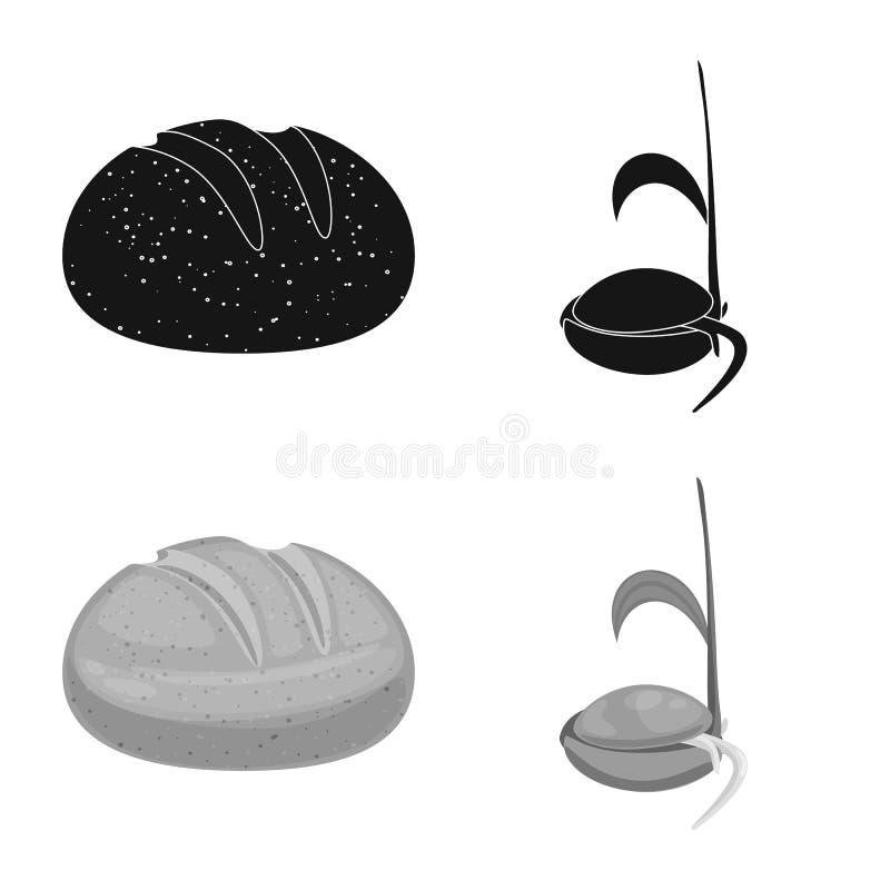 Vectorillustratie van landbouw en de landbouwembleem Reeks van landbouw en het symbool van de installatievoorraad voor Web royalty-vrije illustratie