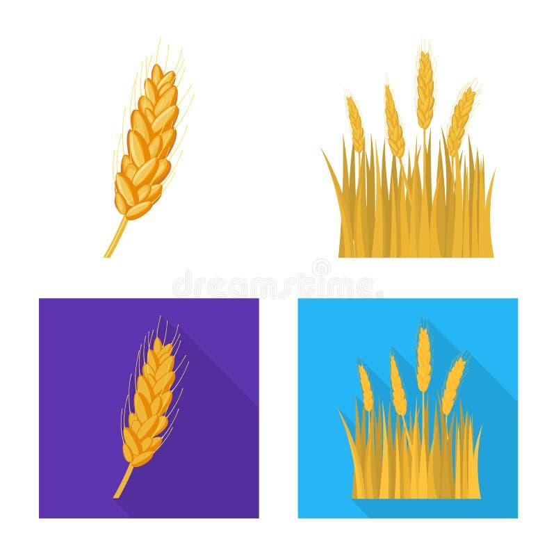 Vectorillustratie van landbouw en de landbouwpictogram Inzameling van landbouw en installatie vectorpictogram voor voorraad stock illustratie