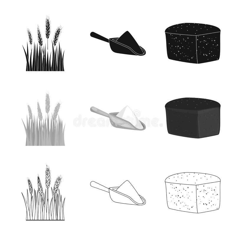 Vectorillustratie van landbouw en de landbouwpictogram Inzameling van landbouw en de vectorillustratie van de installatievoorraad vector illustratie