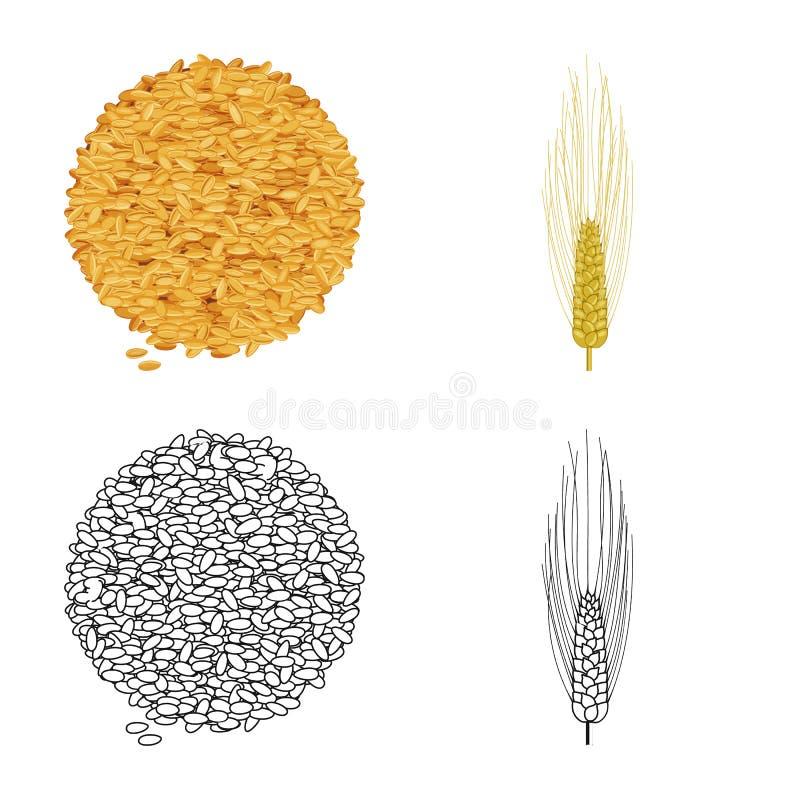 Vectorillustratie van landbouw en de landbouwpictogram Reeks van landbouw en het symbool van de installatievoorraad voor Web stock illustratie