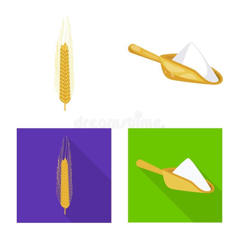 Vectorillustratie van landbouw en de landbouwpictogram Reeks van landbouw en installatie vectorpictogram voor voorraad royalty-vrije illustratie