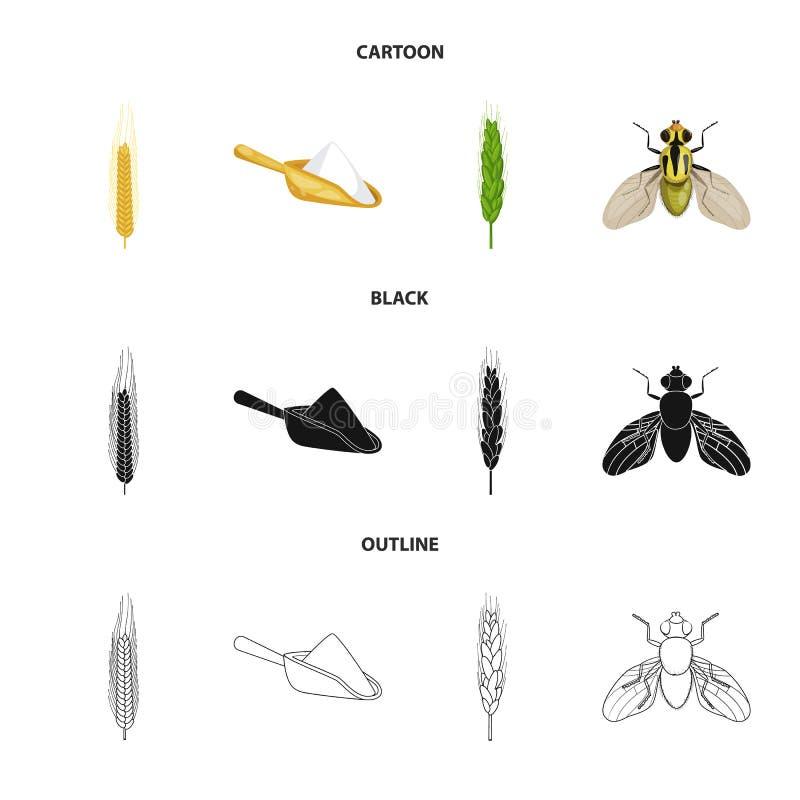 Vectorillustratie van landbouw en de landbouwpictogram Reeks van landbouw en de vectorillustratie van de installatievoorraad royalty-vrije illustratie