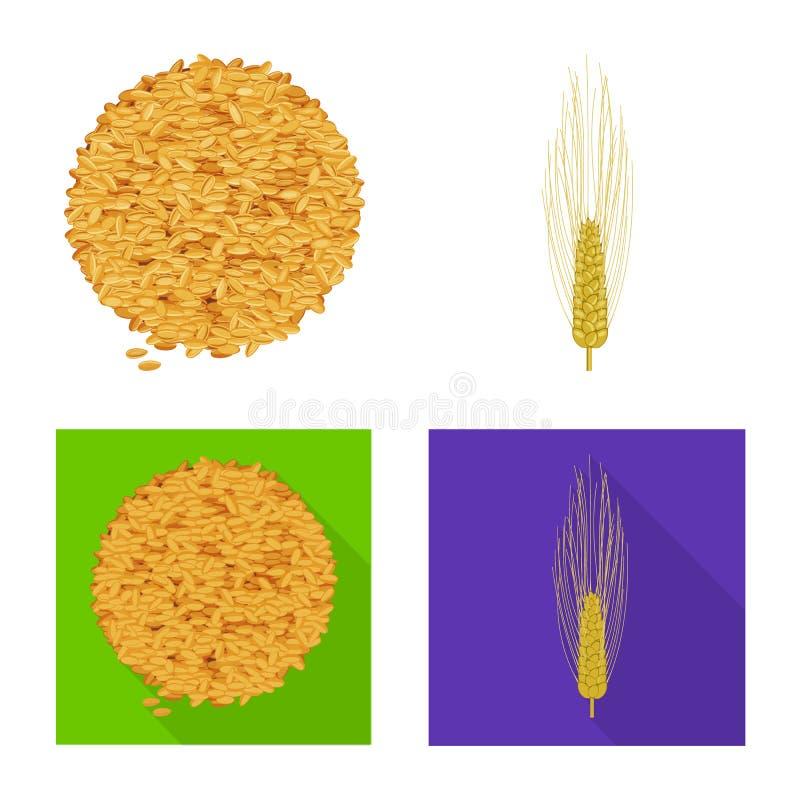 Vectorillustratie van landbouw en de landbouwsymbool Inzameling van landbouw en de vectorillustratie van de installatievoorraad vector illustratie