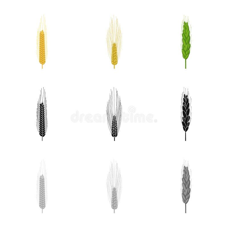 Vectorillustratie van landbouw en de landbouwteken Inzameling van landbouw en het symbool van de installatievoorraad voor Web stock illustratie