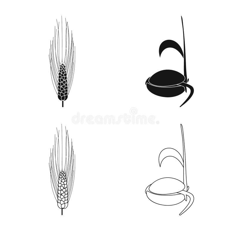 Vectorillustratie van landbouw en de landbouwteken Inzameling van landbouw en installatie vectorpictogram voor voorraad stock illustratie