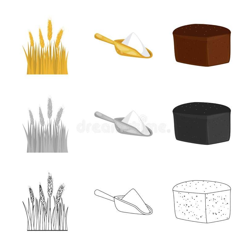 Vectorillustratie van landbouw en de landbouwteken Inzameling van landbouw en de vectorillustratie van de installatievoorraad vector illustratie