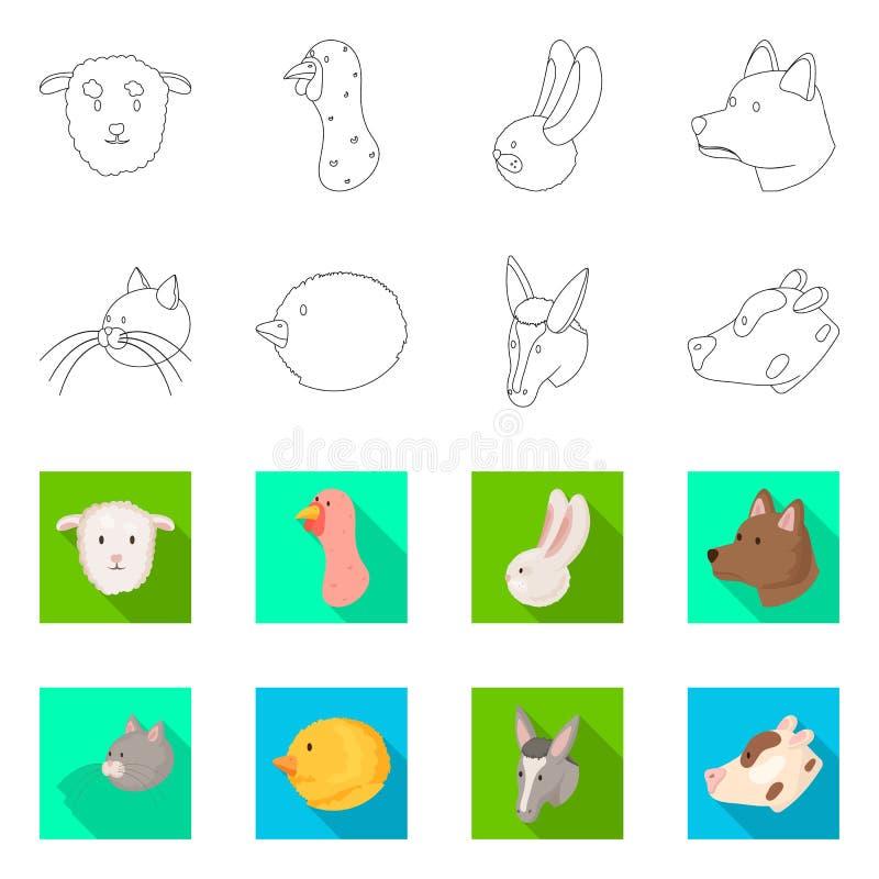 Vectorillustratie van landbouw en het fokkenembleem Reeks van landbouw en organisch vectorpictogram voor voorraad vector illustratie