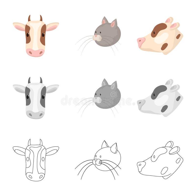 Vectorillustratie van landbouw en het fokkenpictogram Inzameling van landbouw en organisch vectorpictogram voor voorraad stock illustratie