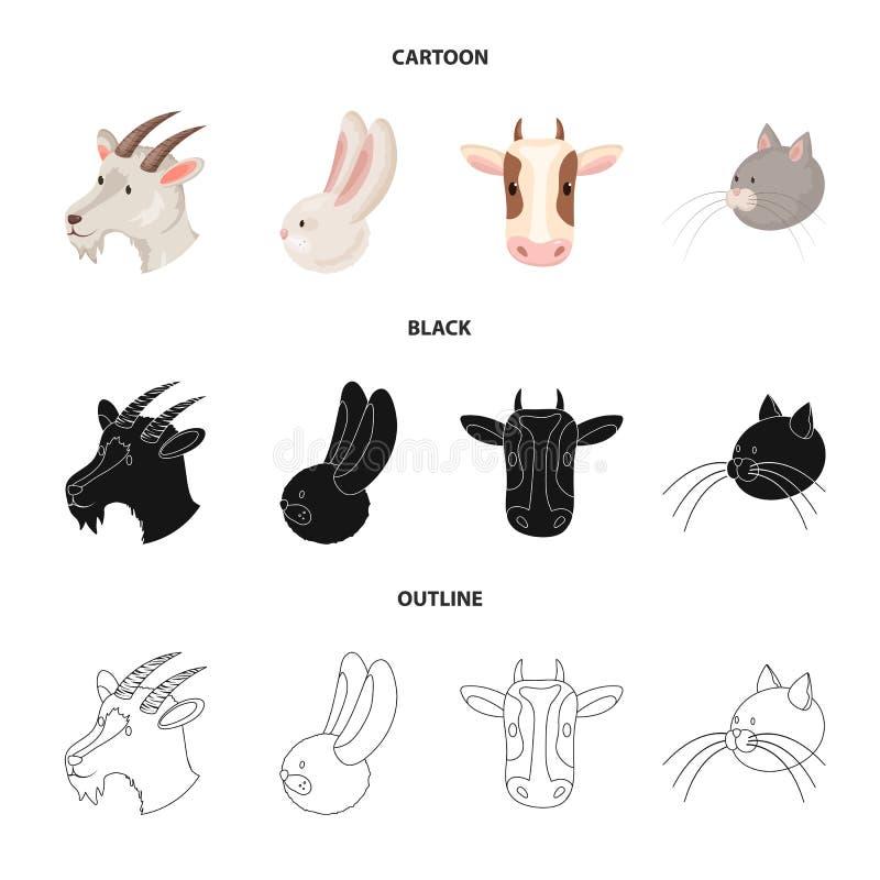 Vectorillustratie van landbouw en het fokkensymbool Reeks van landbouw en organisch vectorpictogram voor voorraad royalty-vrije illustratie