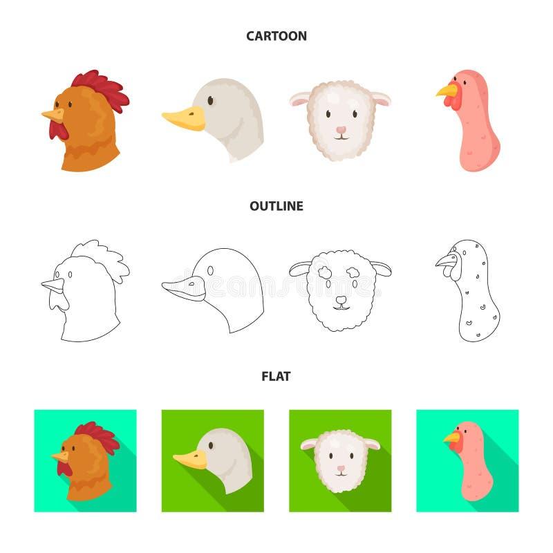 Vectorillustratie van landbouw en het fokkenteken Reeks van landbouw en organisch vectorpictogram voor voorraad royalty-vrije illustratie