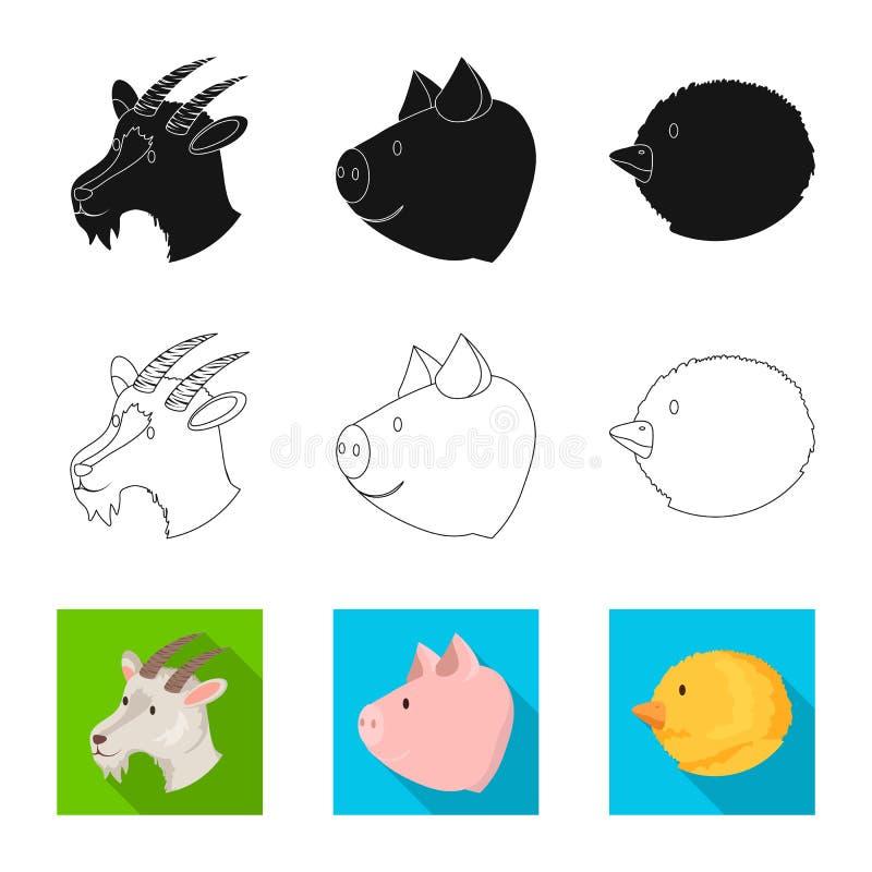 Vectorillustratie van landbouw en het fokkenteken Reeks van landbouw en organisch voorraadsymbool voor Web stock illustratie