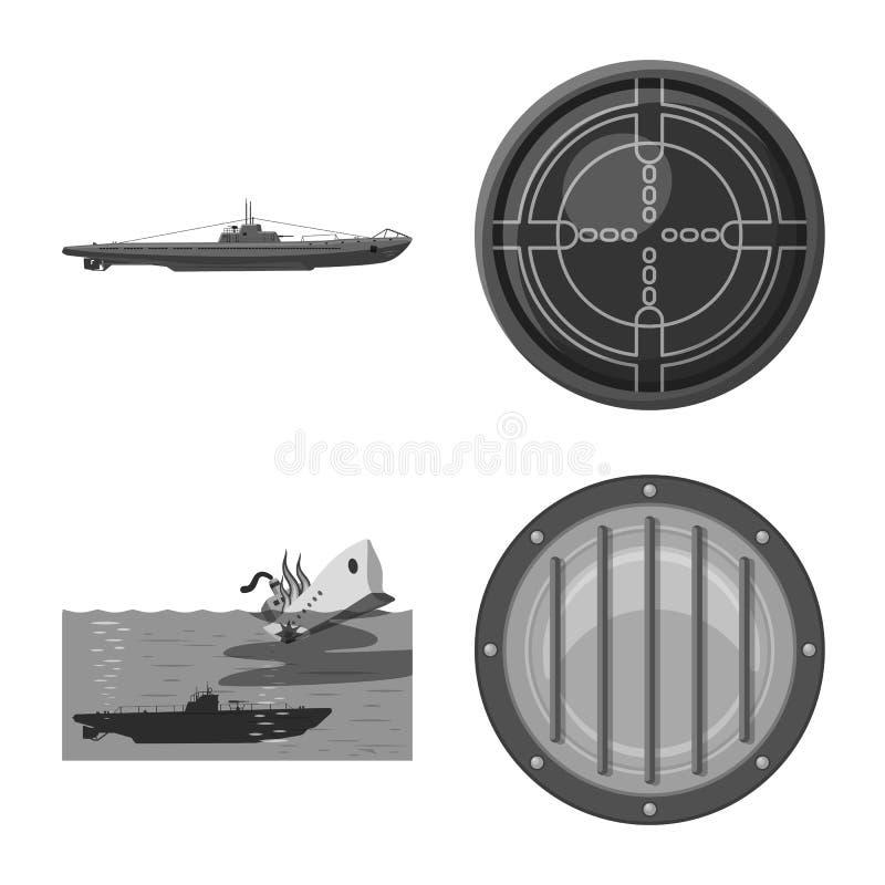 Vectorillustratie van leger en diep pictogram Inzameling van leger en kern vectorpictogram voor voorraad royalty-vrije illustratie