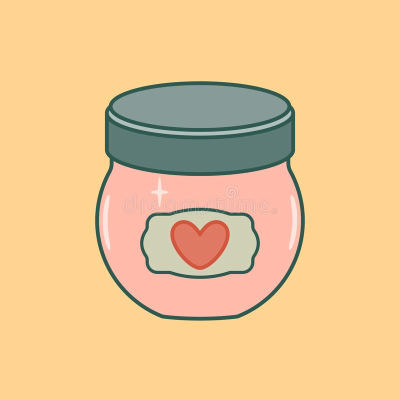 Vectorillustratie van liefdedrankje vector illustratie