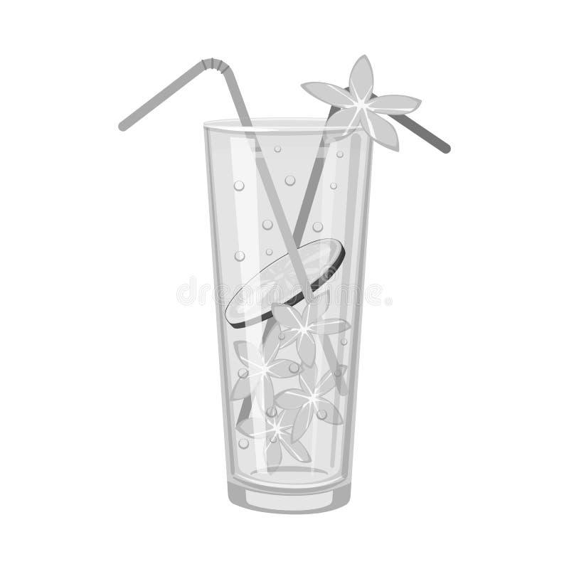 Vectorillustratie van limonade en glasteken Inzameling van limonade en kalkvoorraad vectorillustratie vector illustratie