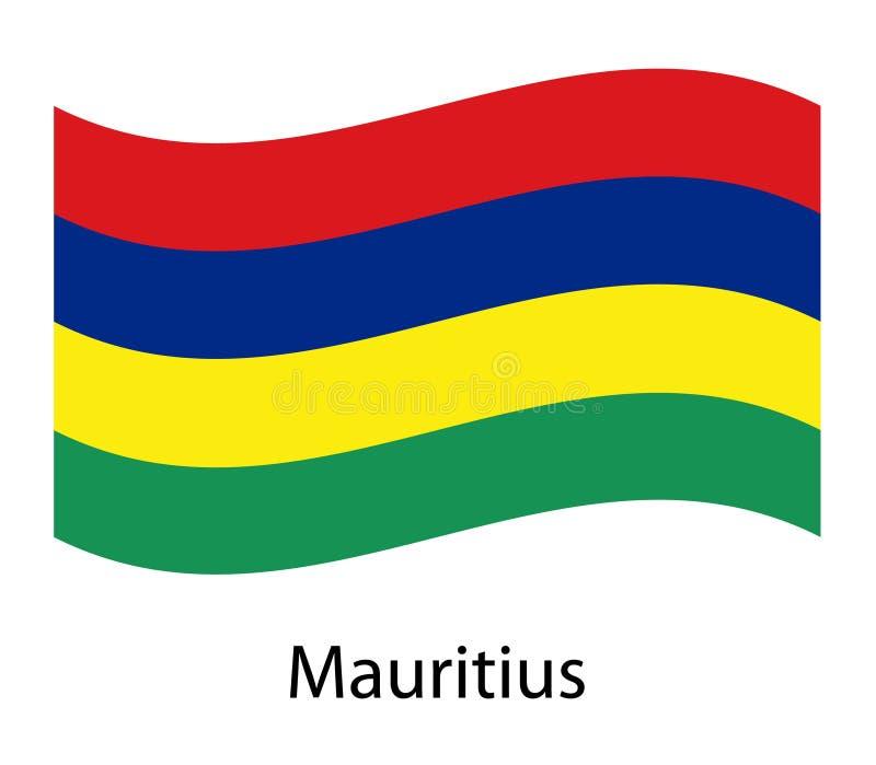 Vectorillustratie van Mauritius Happy Independence Day 12 Maart stock illustratie