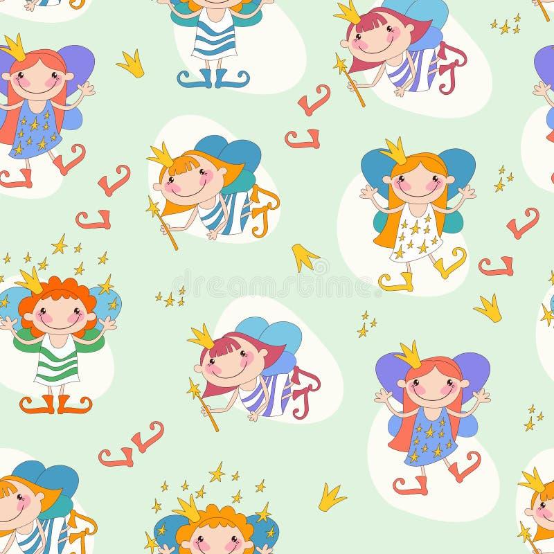 Vectorillustratie van meisjesfeeën Fee met a royalty-vrije illustratie